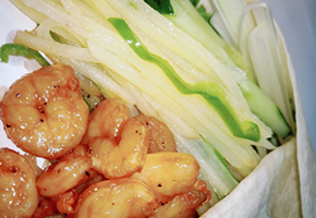 公元前虾仁卷饼